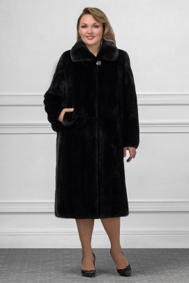 Пальто из черной норки ворот апаш 120см.