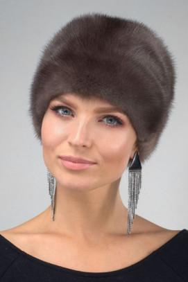 Норковая шапка цвет соболь